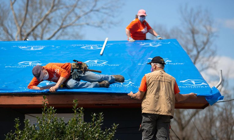 Samaritan's Purse volunteer teams are working at two locations in Alabama after tornadoes swept through the state.