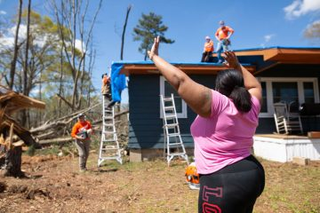 Danisha Jackson praises God for her family's safety and for Samaritan's Purse volunteers showing up to help.