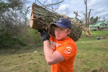 Volunteers are hard at work cleaning up in the Southside community near Gadsden.