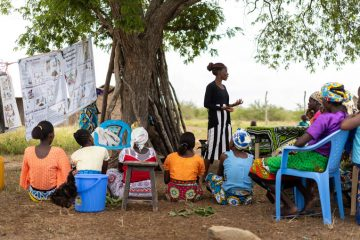 Women like Dama are learning about good hygiene practices during community-wide trainings.