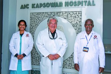 Left to right: Dr. Abraham, Dr. Martin del Campo, and Hospital Director Dr. Stanley Mutwol.