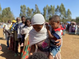 Thousands of displaced families continue to arrive in the Tigray region of Ethiopia.