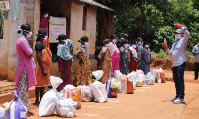 A Samaritan's Purse food distribution in 2020 to vulnerable families in India suffering during the global pandemic.