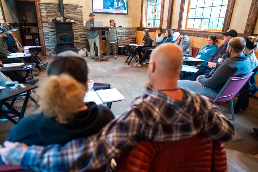Couples participate in chaplain-led marriage enrichment classes at Samaritan Lodge Alaska.