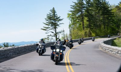 Motorcyclists ride along the Blue Ridge Parkway to support wounded military through the High Country Warrior Ride