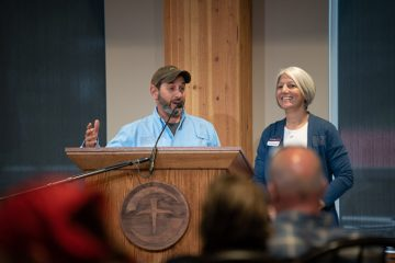 Military couple Ben and Heidi Hebert shared with participants how Operation Heal Our Patriots impacted their lives and marriage.