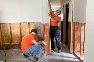 Major flooding often requires drywall and insulation to be ripped out.