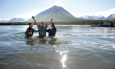Edgar Aguilar baptism during Operation Heal Our Patriots