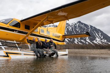 Kerry and Russell Gaskins joined Kyle and Nikki Porter on our floatplane for a day of fishing in remote Alaska.