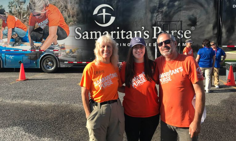 Karina enjoyed serving with fellow disaster relief volunteers while in Lake Charles.