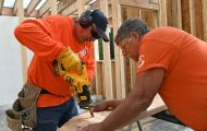 Each year, volunteers work on construction projects to assist native villages throughout rural Alaska.
