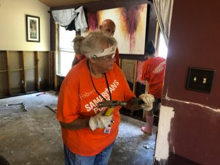 Samaritan's Purse volunteer Roberta Kallay says she's been blessed by serving hurting homeowners.