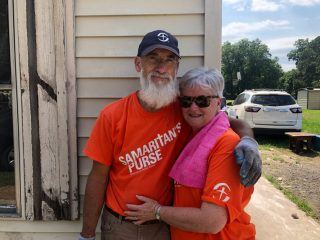 Volunteers Sarah and Dennis Rutland said serving with Samaritan's Purse has provided a ministry vision for their retirement years.