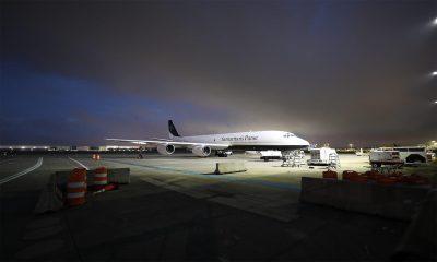 Samaritan's Purse DC-8 on runway
