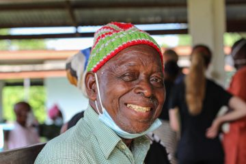 Andrew received his sight again this year, as did his grandson, Emmanuel.