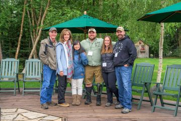 Dean and Tammie Jo Shults (left) with two Operation Heal Our Patriots couples in Alaska: (L to R) Anh and Tim Read; Jaime and Casey Graham.