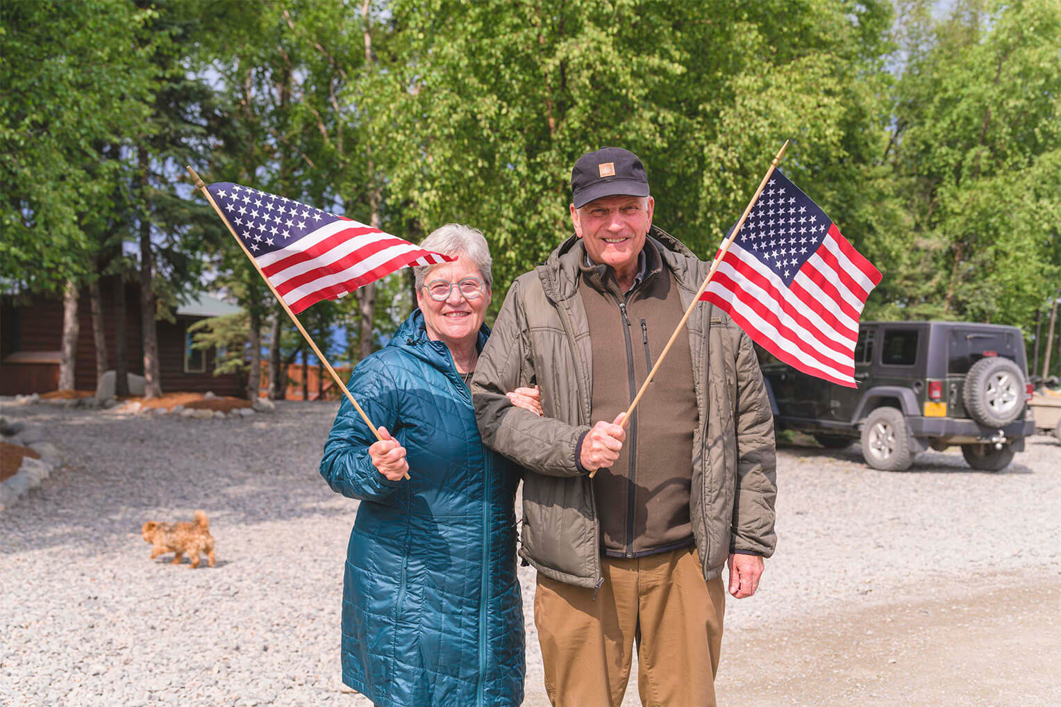 Franklin and Jane Graham welcomed military couples to Samaritan Lodge on the Fourth of July.