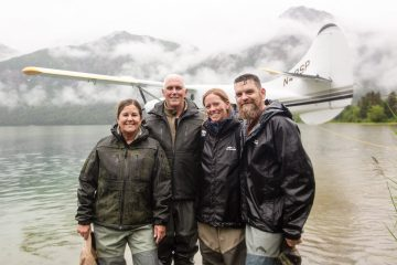 The Pences went on an expedition to the Kijik River with couples including Army Chief Warrant Officer 3 Ryan and Staci Groves.