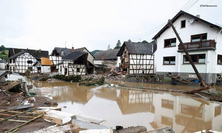 Western Germany has been hard hit by catastrophic flooding.
