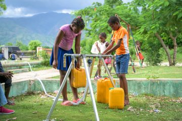 In addition to medical care, we are also providing clean water sources--free of cholera--to communities.