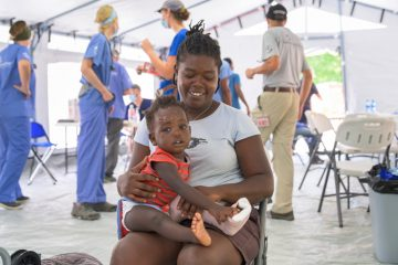Rosenine is grateful to God for protecting her son Adonnia and for providing care through Samaritan's Purse.