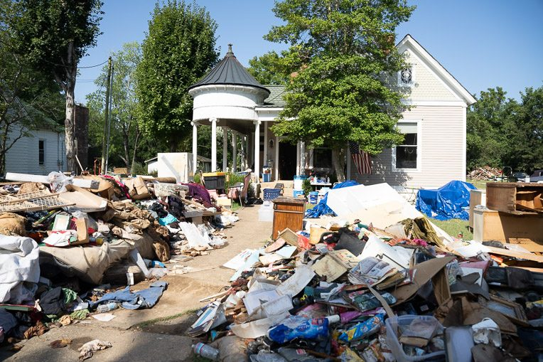 Nearly all of Shane's personal belongings were destroyed in the flood.