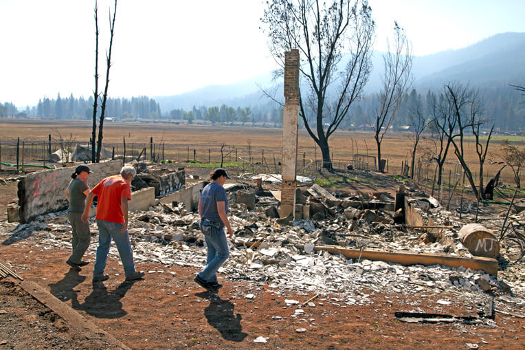 Samaritan's Purse teams can't reverse the devastation of fires, but they can help find precious belongings and share the hope of Jesus Christ.