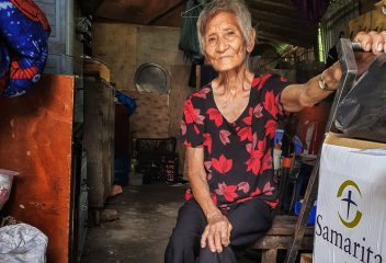Tham lives alone in the slums.