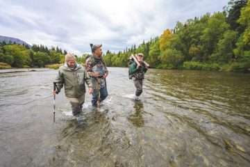Ray and Maggie got to hike and fish in the Kijik River.