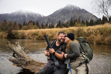Army Sergeant Ryan York and his wife Jen enjoyed a day of fishing and hiking at on the Kijik River.