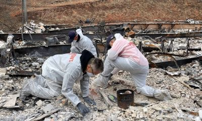 Samaritan's Purse volunteers are helping homeowners sift through property in search of treasured belongings and keepsakes that might have escape the blaze.