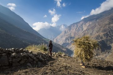 Nepal is home to many remote mountain villages.