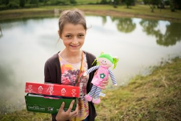 Uliana was grateful to receive all the special gifts in her shoebox.
